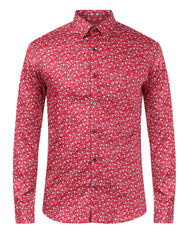 Raymond Dark Red Slim Fit Shirt