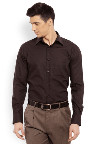 Raymond  Brown Slim Fit Shirt