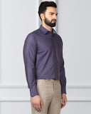 Raymond Dark Brown Regular Fit Shirt