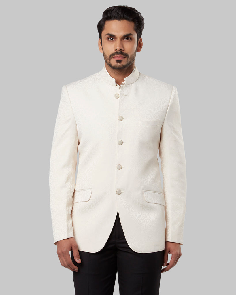 ethnix Beige Regular Fit Jacket