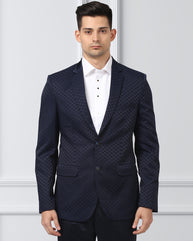 Ethnix Navy Tailored Fit Jacket