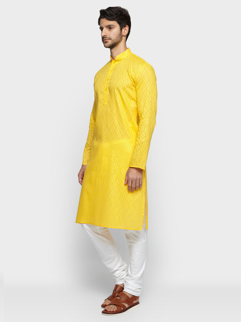 ethnix Yellow Regular Fit Kurta