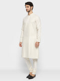 ethnix White Regular Fit Kurta