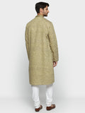 ethnix Olive Regular Fit Kurta