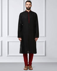 Raymond Black Regular Fit Kurta Set