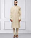 ethnix Beige Regular Fit Kurta