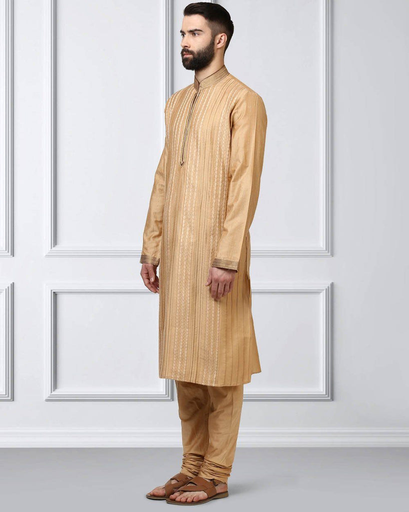 Raymond Beige Regular Fit Kurta Set
