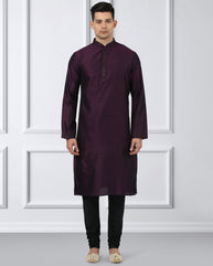 Ethnix Violet Regular Fit Kurta With Churidar