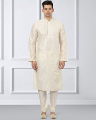 Ethnix Fawn Regular Fit Kurta With Churidar