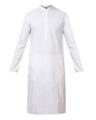 Raymond White Regular Fit Kurta with Churidar
