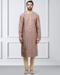 Ethnix Pink Regular Fit Kurta With Churidar