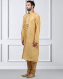 Ethnix Dark Fawn Regular Fit Kurta With Churidar