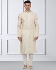 Ethnix Golden Regular Fit Kurta With Churidar