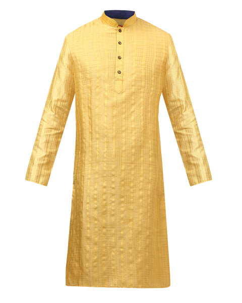 ethnix Yellow Regular Fit Kurta Set