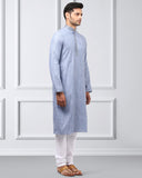 ethnix Grey Regular Fit Kurta Set