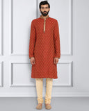 ethnix Maroon Regular Fit Kurta