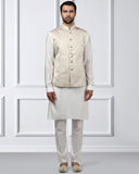 ethnix Cream Regular Fit Kurta