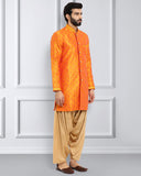 ethnix Orange Regular Fit Kurta