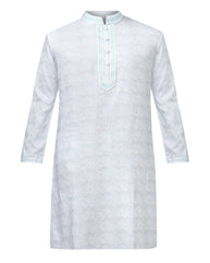 Khadi by Raymond Grey Regular Fit Kurta Set