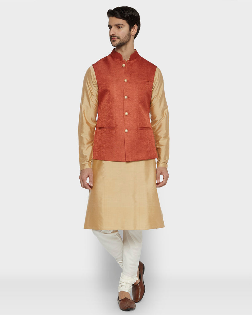 ethnix Rust Regular Fit Bundi