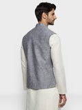 ethnix Grey Regular Fit Bundi