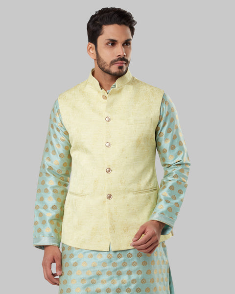 ethnix Yellow Regular Fit Bundi