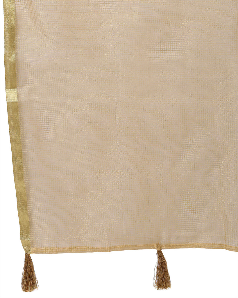 Ethnix Beige Regular Fit Dupatta
