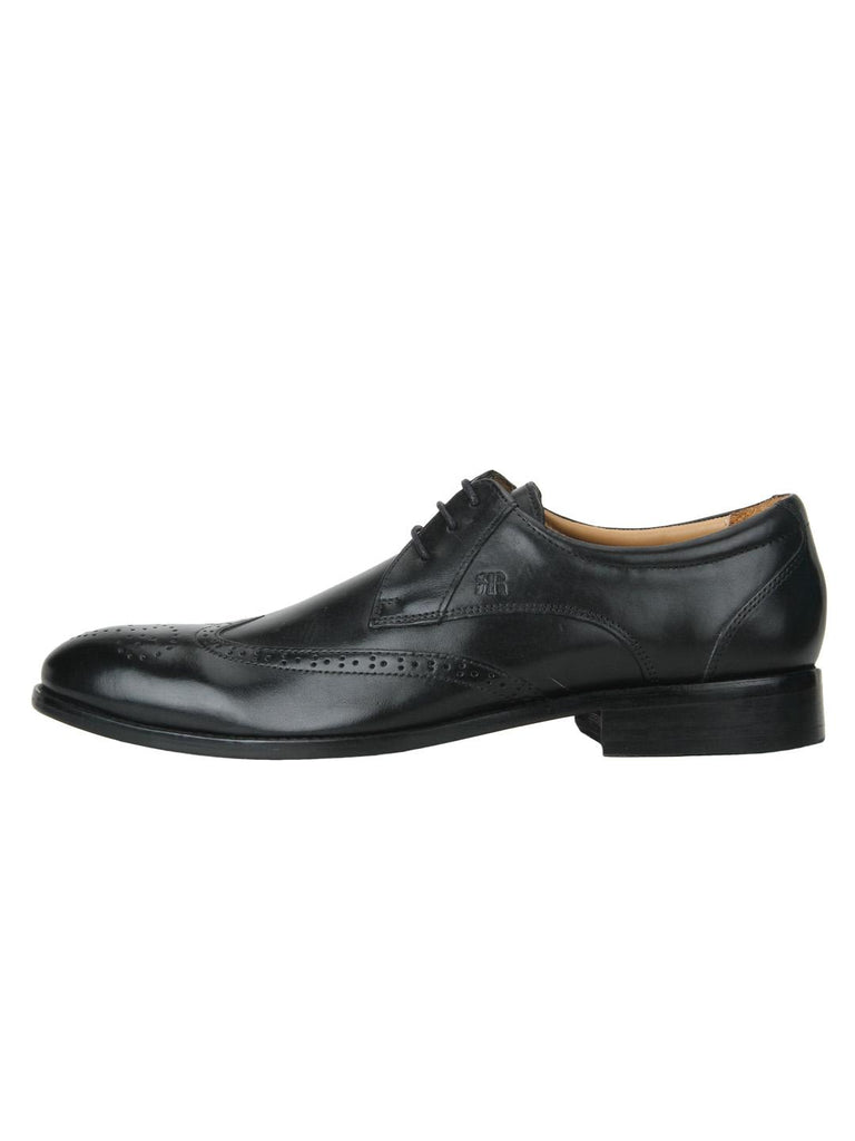 Raymond Black Leather Shoes
