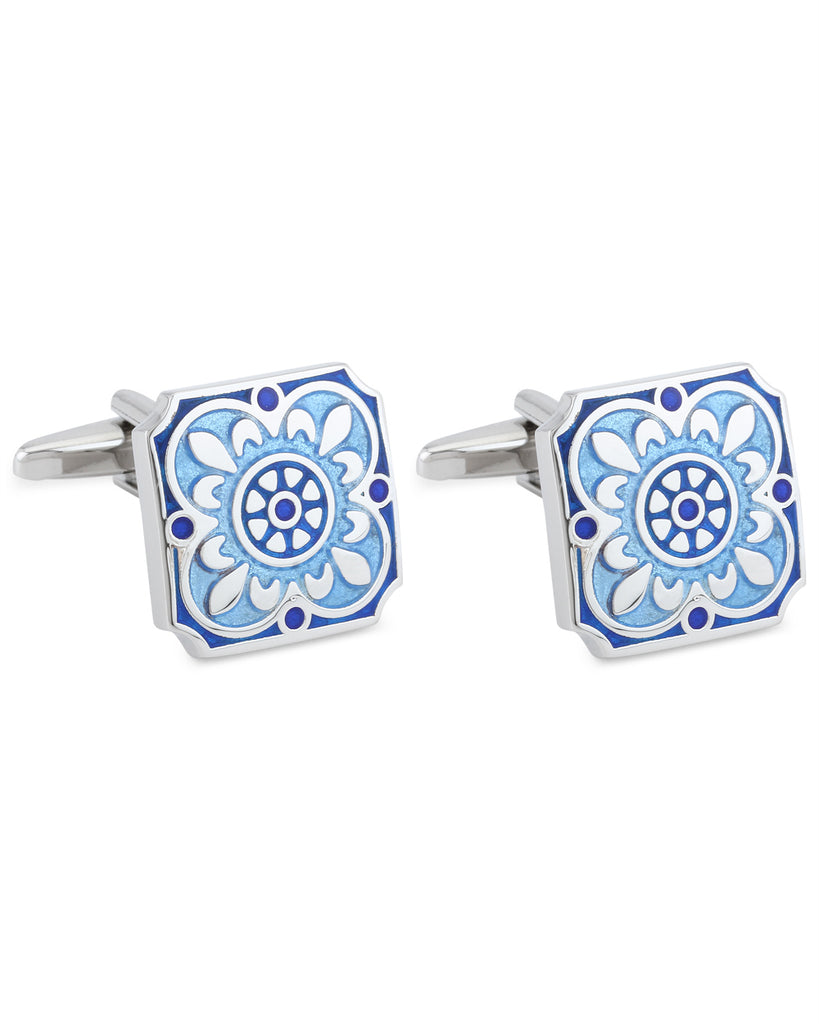 Raymond Blue Metal Cufflinks