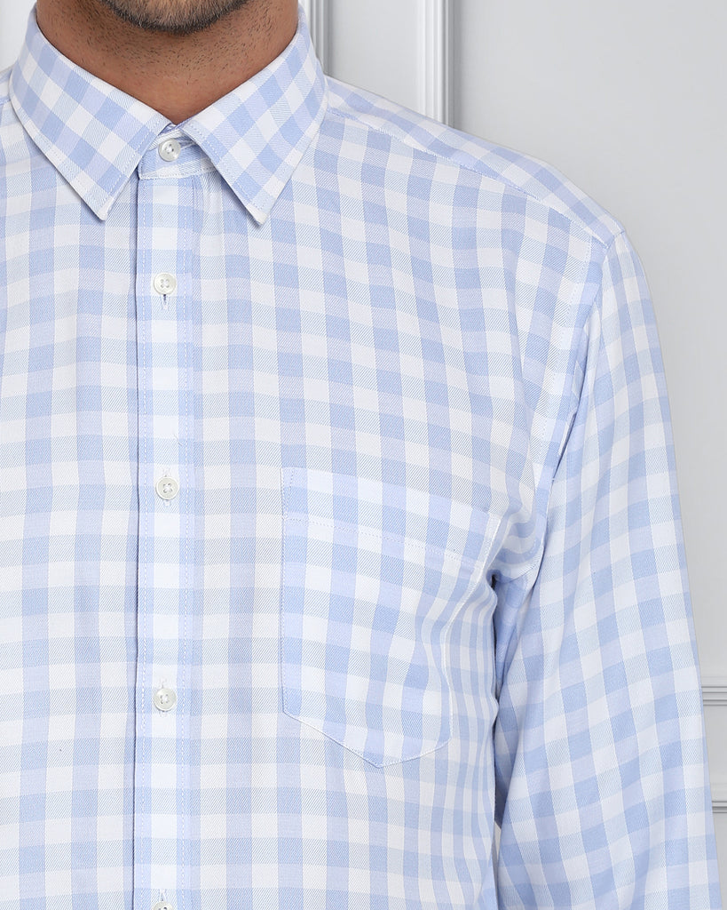 Next Look Blue Casual Fit Shirt