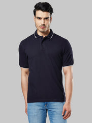 Next Look Fancy Blue Regular Fit T-shirt