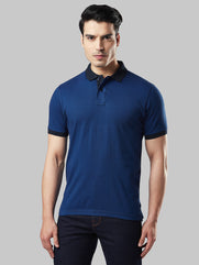 Next Look Dark Blue Regular Fit T-shirt