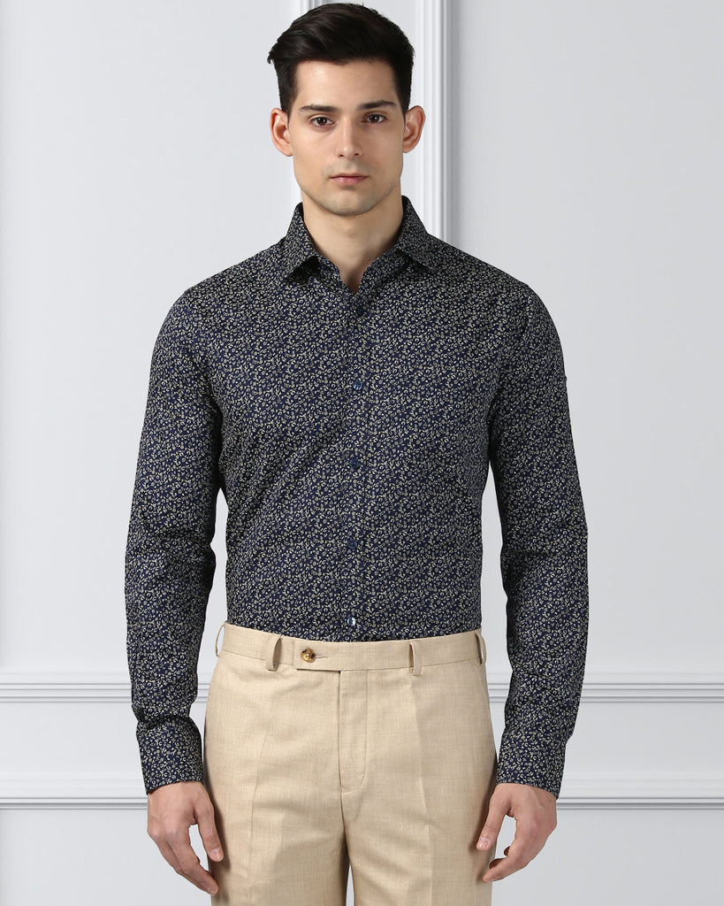 Next Look Dark Blue  Slim Fit Shirt