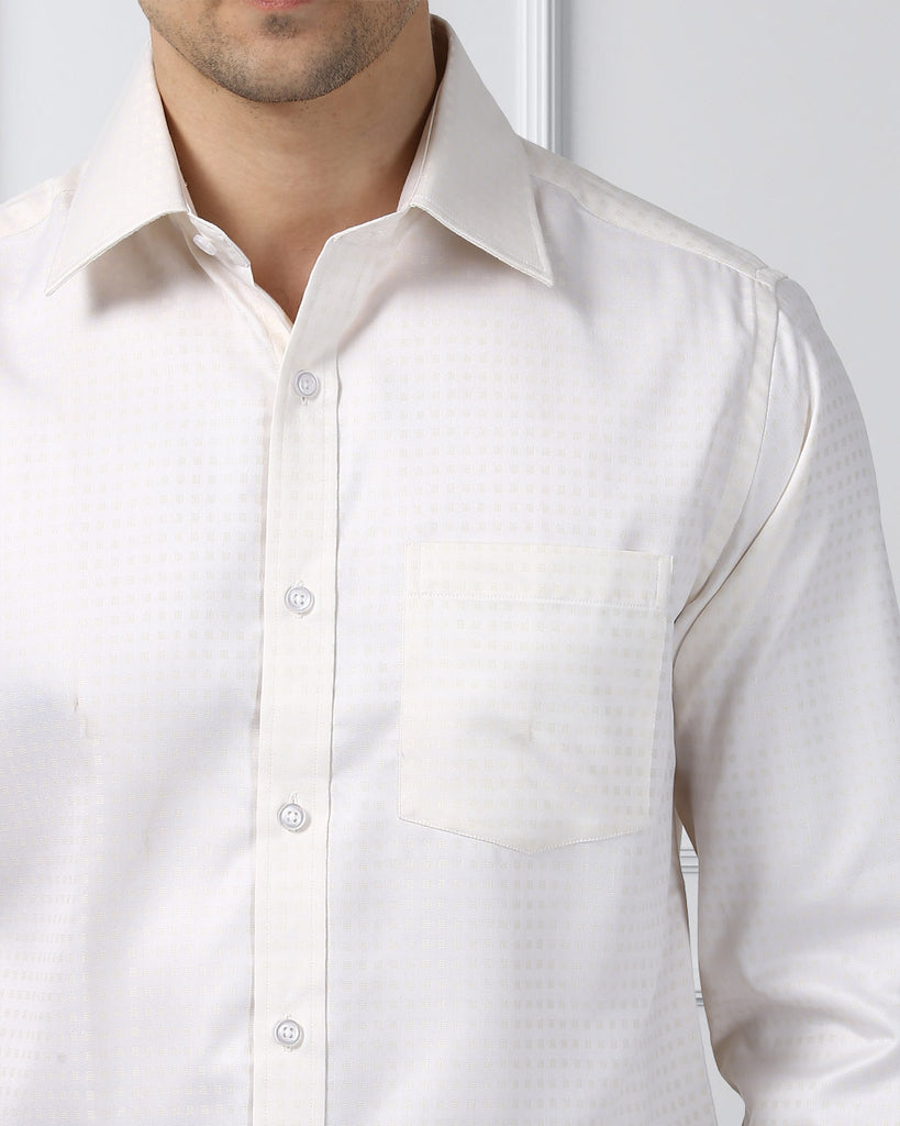 Next Look Light Fawn Regular Fit Shirt
