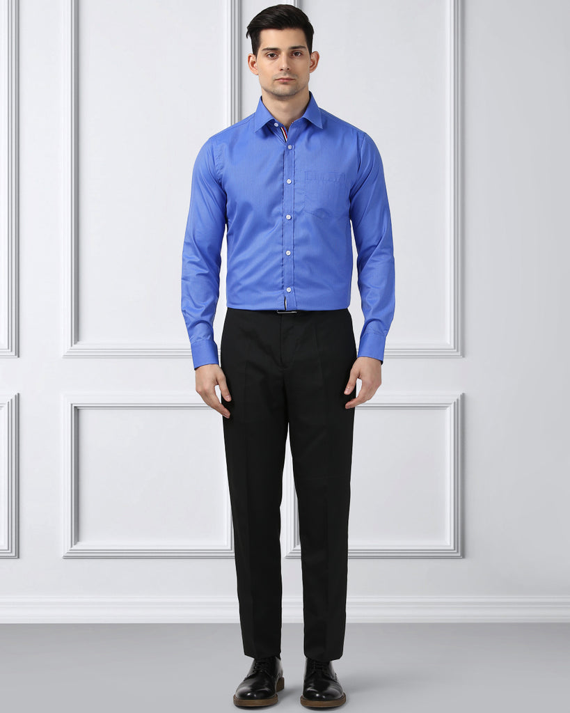 Next Look Dark Blue Super Slim Fit Shirt