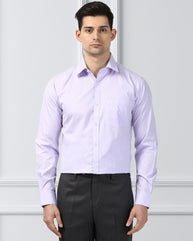 Next Look Medium Violet  Slim Fit Shirt