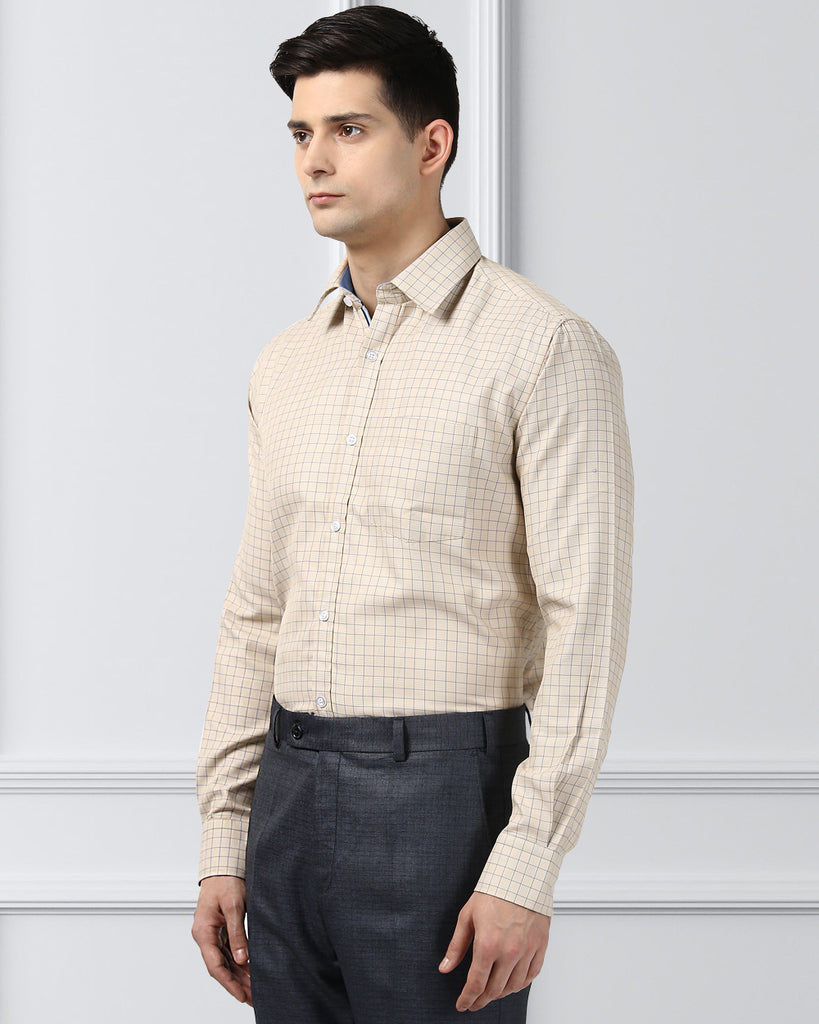 Next Look Yellow Slim Fit Shirt