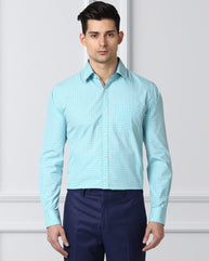 Next Look Green Slim Fit Shirt