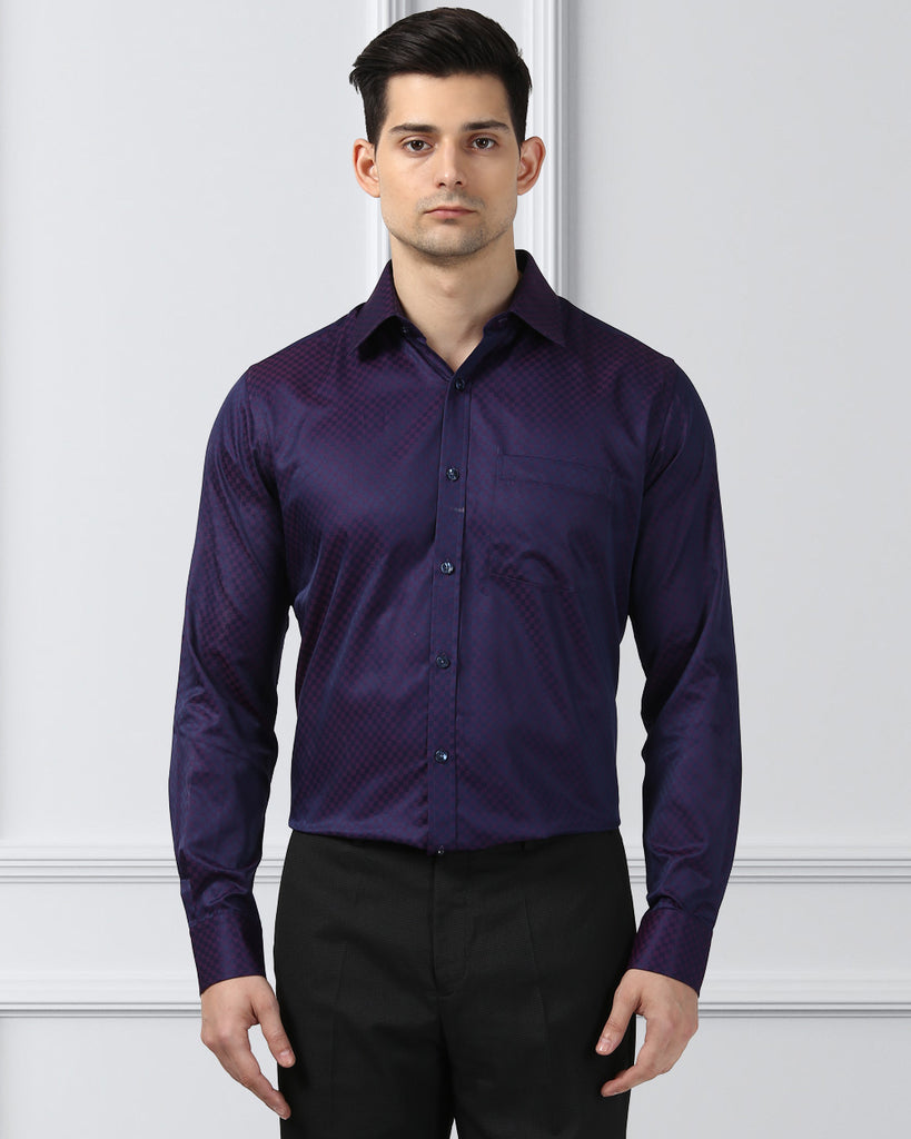 Next Look Purple Slim Fit Shirt