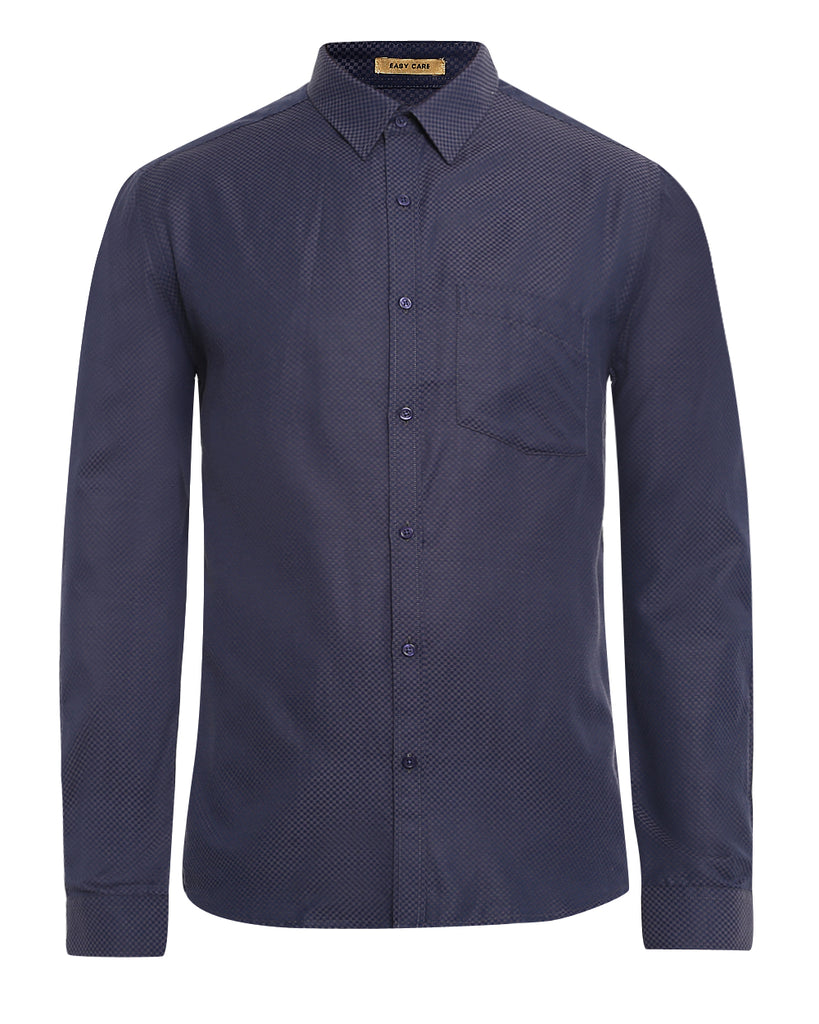 Next Look Dark Grey Slim Fit Shirt