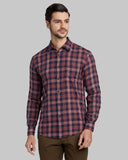 Parx Medium Red Slim Fit Shirt
