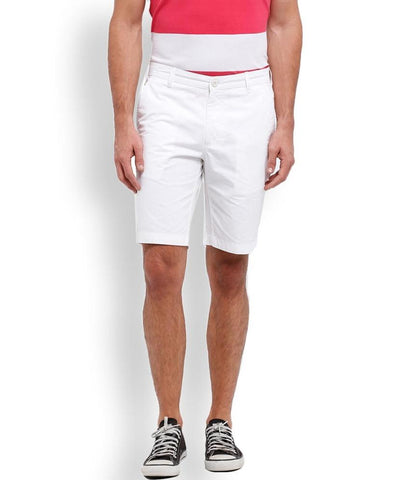 Parx White Regular Fit Shorts