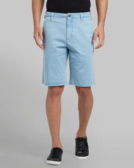 Parx Medium Blue Regular Fit Shorts