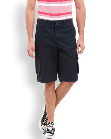 Parx  Blue Regular Fit Shorts