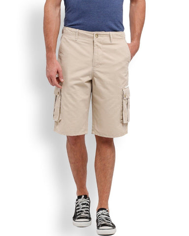 Parx Beige Regular Fit Shorts