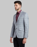 Parx Grey Regular Fit Blazer