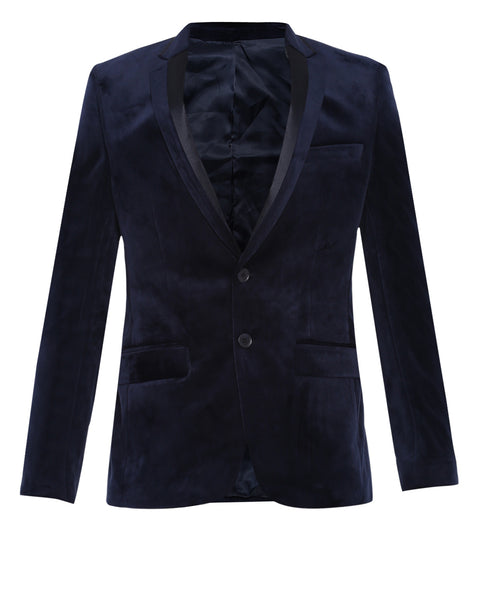 Parx Blue Regular Fit Blazer