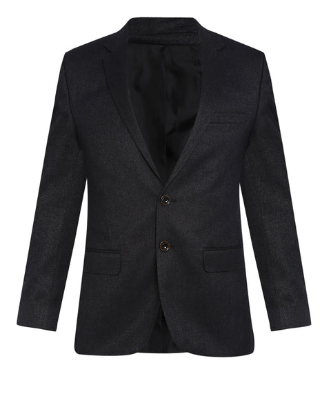 Parx Dark Grey Regular Fit Blazer