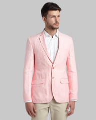 Parx Orange Regular Fit Blazer