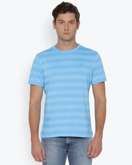 Parx Light Blue Regular Fit T-Shirt